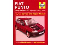 HAYNES FIAT PUNTO MK1 SERVICE & REPAIR MANUAL PETROL & DIESEL TO 1999