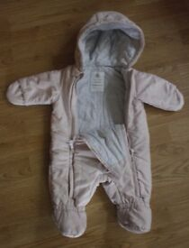 Petit Bateau Baby girl Plain Snowsuit - size 3 months