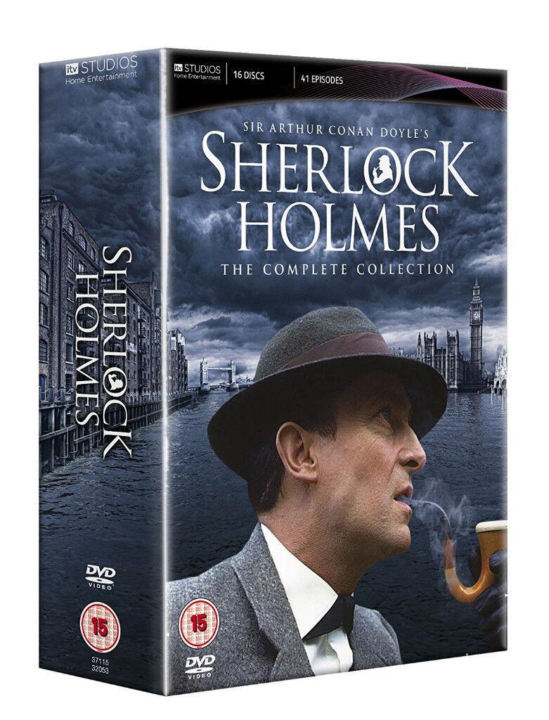 SHERLOCK HOLMES COMPLETE JEREMY BRETT ITV SERIES - 16 disc DVD BOX SET like new
