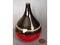 small bulbous stoneware vase