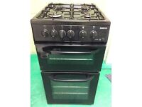 BEKO gas cooker 50cm wide Black cooker