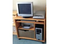Systemax Inspire 4012 computer with, printer, office equipment