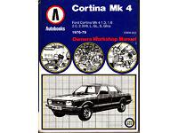 AUTOBOOKS (NOT HAYNES) CORTINA MK4 WORKSHOP MANUAL 1976 - 1979