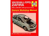 HAYNES VAUXHALL OPEL ZAFIRA SERVICE AND REPAIR MANUAL 2005 - 2009 PETROL & DIESEL