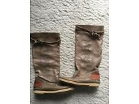 Made in Italy Beige Leather Boots size 3