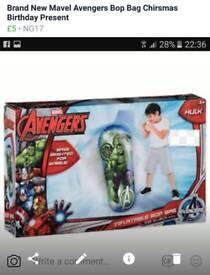 Bnib Avenger hulk bop bag boxing Chirsmas Birthday Present
