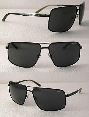 ARNETTE BACON AVIATOR SUNGLASSES POLISHED BLACK METAL FRAME GREY LENSES NEW (Bacon Sunglasses)