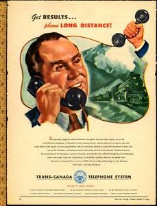 1948 full-page magazine ad for Trans-Canada Telephone System