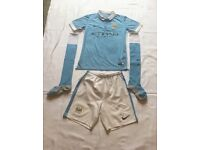 Manchester City 2015/16 Home Kit. Age 10/12. Perfect condition