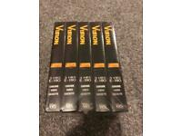 NEW VHS VIDEO TAPES X5