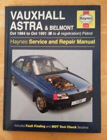 Vauxhall astra & Belmont Haynes Manual