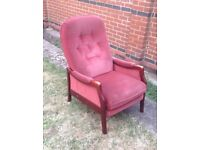 Cintique Winchester recliner armchair, used but in fully working , good condition