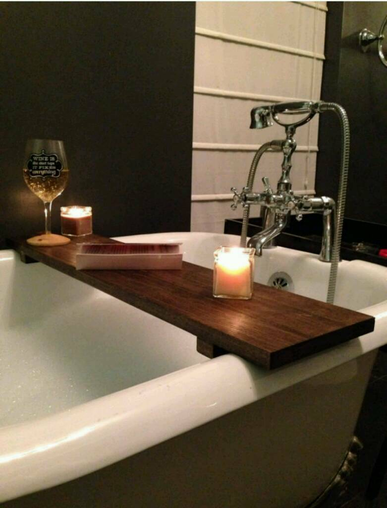 Vin et bain. Over the bath shelf, perfect for a glass of wine. | in ...