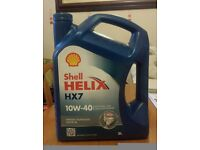 Shell Helix HX7 10W-40 Motor Oil (about 3.5 litres left)