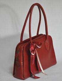 Red leather Radley bag.