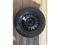 Vauxhall 15in space saver spare Wheel & Tyre