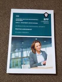 CISI IAD Level 4 UK Regulation & Professional Integrity Syllabus Version 9 Practice and Revision Kit