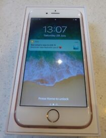 iPhone 6s 16Gb Rose Gold Unlocked to all networks - Immaculate condition, includes Apple Cover