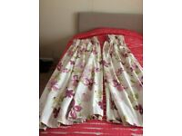 Curtains - one pair of lined John Lewis curtains, as new condition, pencil pleat,