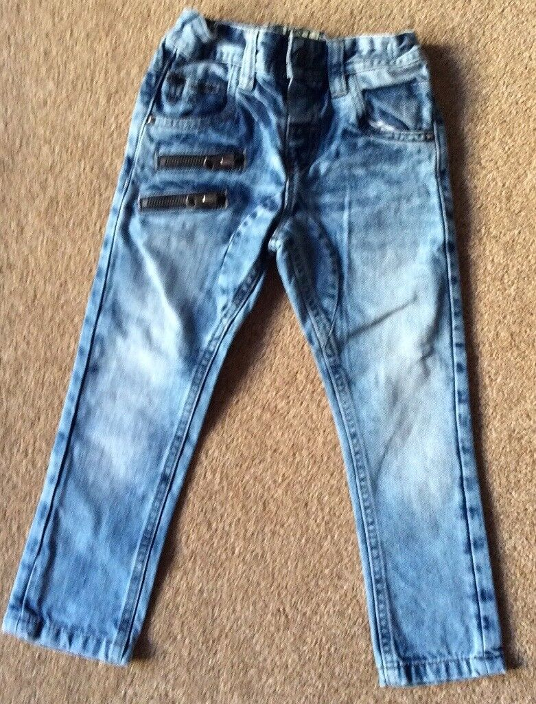 Next Boys Distressed Look Jeans 2 - 3 Years - Excellent Condition - £5