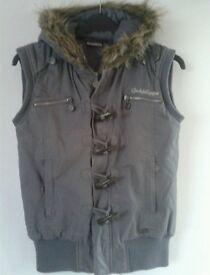 womens goldigga coat/gillet size 12