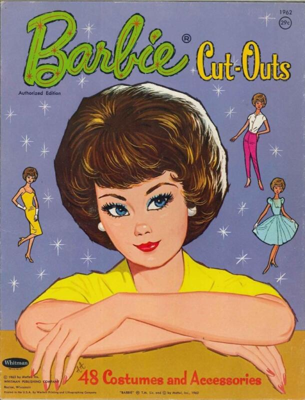 VINTGE 1963 BUBBLE-CUT BARBIE PAPER DOLL ~CUTE LASER REPRODUCTION~ORG SIZE UNCUT