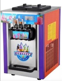 ICE CREAM WHIPPY MACHINE - SOFT ICE CREAM - TRIPLE HEAD - SHIPPING AVAILABLE