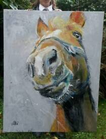 New large original painting - Horse
