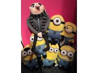 BRAND NEW WITH TAGS Gru and Army of Minions/ Despicable Me/ teddys/ toys