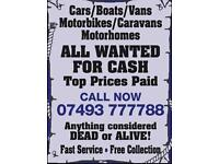 Scrap Cars Wanted For Cash Same day Collection Top prices paid