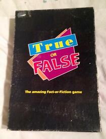 TRUE OR FALSE. MB GAMES/ 1995 HASBRO. AMAZING FACT OR FICTION BOARD GAME. VGC