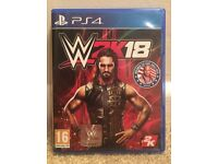 WWE 2K18 game for PS4 - MINT - FREE delivery - Playstation 4