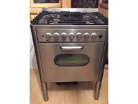 Zanussi grey gas oven for sale
