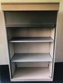 Metal frame office cupboard / Cabinet with roller shutter