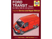 HAYNES FORD TRANSIT DIESEL SERVICE REPAIR MANUAL 1986 to 1995 (N Reg)