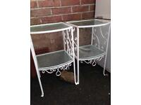 2 vintage French garden/patio tables