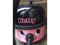 Numatic Henry Hetty Micro Hoover Vacuum cleaner Het200A Pink 2 speeds Hi/Low and new bag