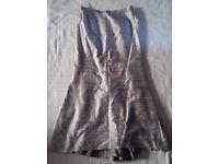 Paul Vasseur Ladies Pewter Jacket & Skirt Suit Size 48 (18-20)