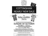 Cottingham Nearly New Sale for Baby & Toddler Items