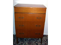 QUALITY RETRO 4 DRAWER BEDROOM CHEST