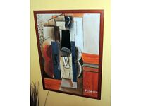"""Violin Hangs On The Wall"""" by Pablo Picasso 1913 (framed art)"""