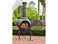 XL Steel BBQ Chimenea Wood Burner BNIB