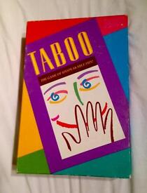 Taboo. The Game of Unspeakable Fun by MB. Early 1990s Edition. Complete & VGC.