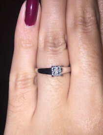 Princess Cut 4 Stone Diamond Engagement Ring Size N