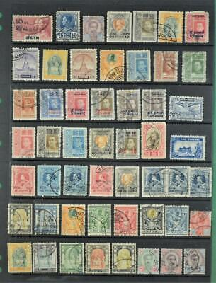 THAILAND SIAM STAMPS ON STOCK CARD   (Z80)