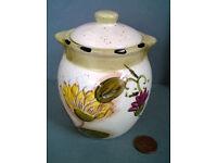 italian lidded sunflower jar