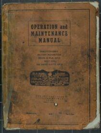 Original Harley Davidson WLA42 Operation & Maintenance Manual
