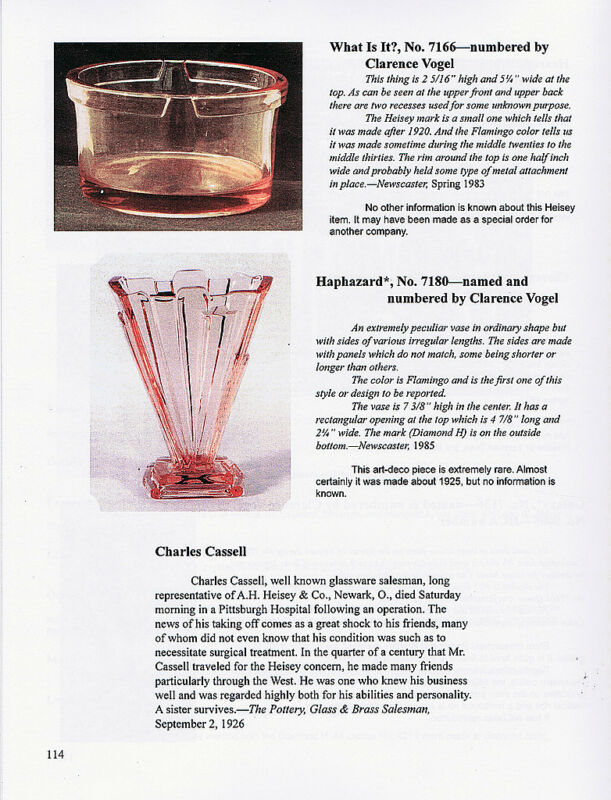 Heisey Glass, vol. 3, 1916-1930 - Clarence Vogel - updated & enlarged