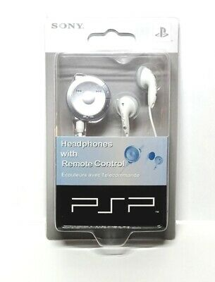 Official Sony PSP Headphone wtih Remote Volume Control White for sale  Shipping to India