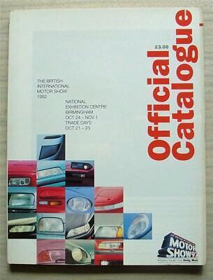 NEC BRITISH MOTOR SHOW 24 Oct to 1 Nov 1992 Official Car Catalogue Guide